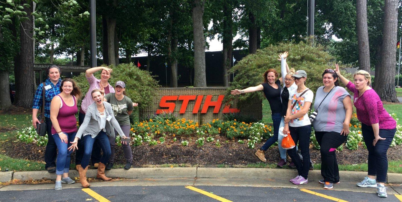 group photo at STIHL