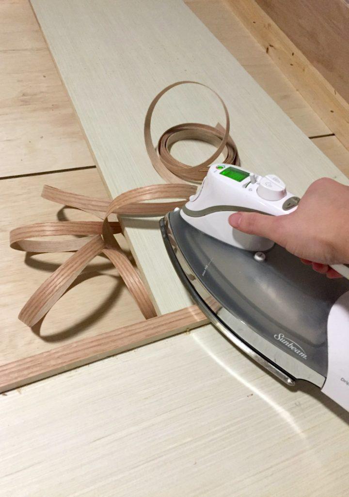 iron on veneer edge banding