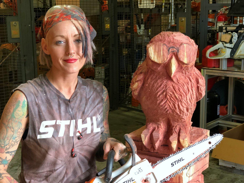 chainsaw artist Griffon Ramsey