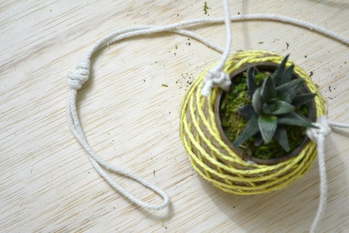top loop knot on hanging planter