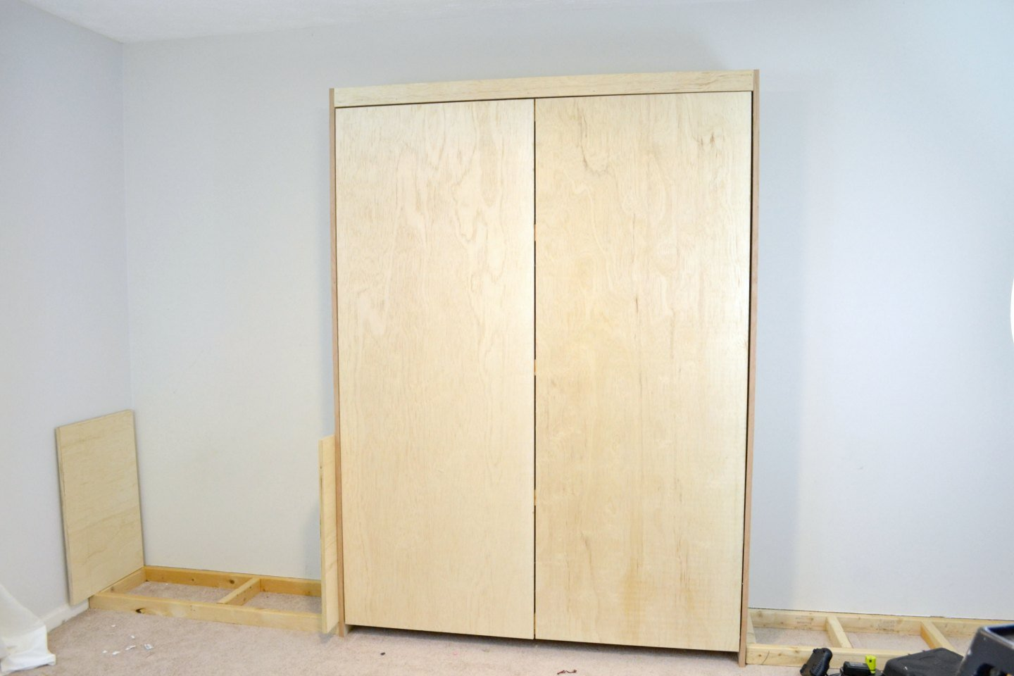 adding built ins to murphy bed wall