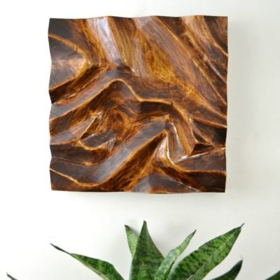 DIY Carved Wood Wall Art