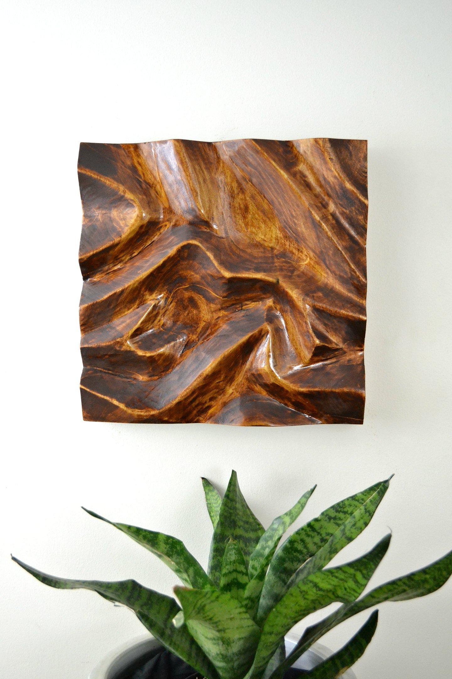DIY Carved Wood Wall Art
