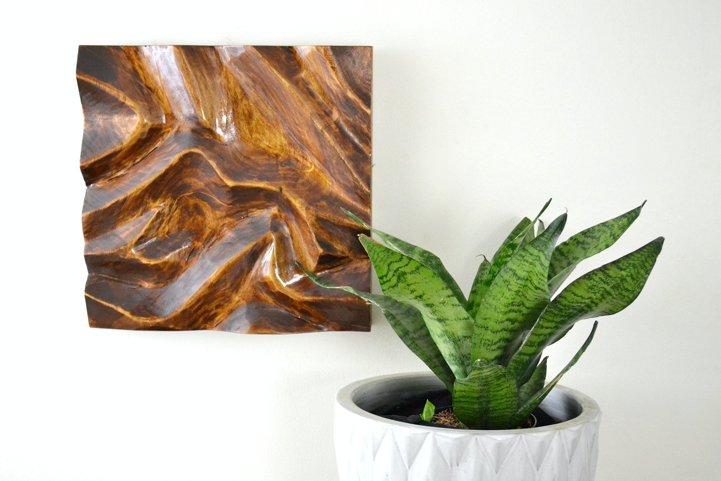diy power carving - wood wall art