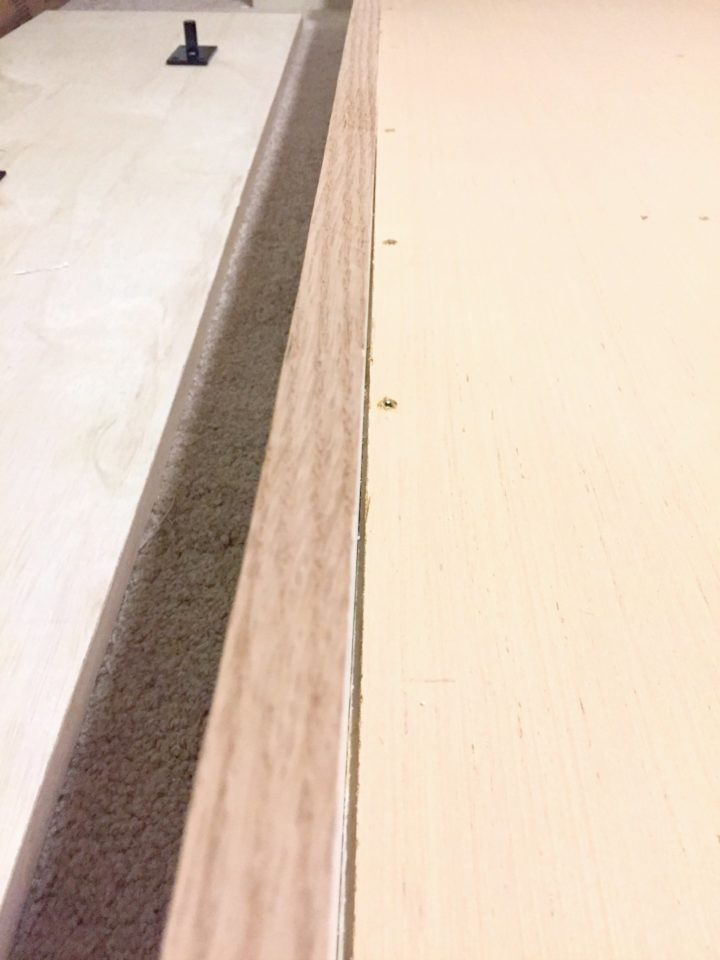 edge banding on murphy bed