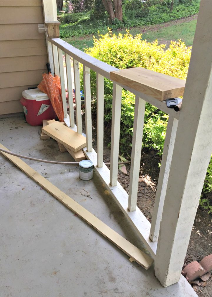 front porch railings need repair