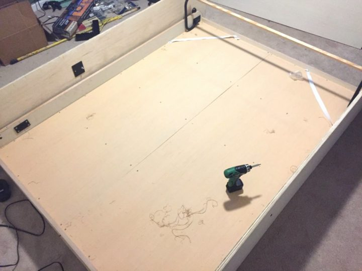 installing murphy bed pieces