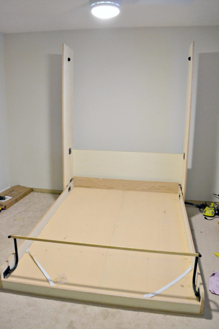 murphy bed pulled open