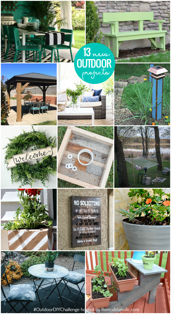 02 outdoor DIY challenge new tutorials projects #remodelaholic