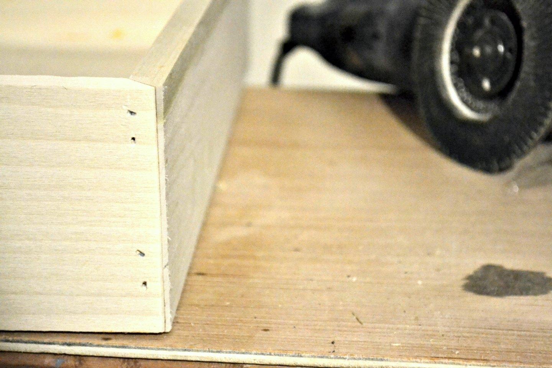 chamfer the corners using angle grinder