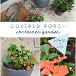covered porch container garden - shade loving plants and easy care tips - how to and video tutorial