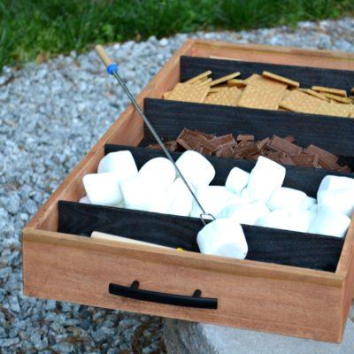 Charred Wood S'mores Tray | shou sugi ban DIY