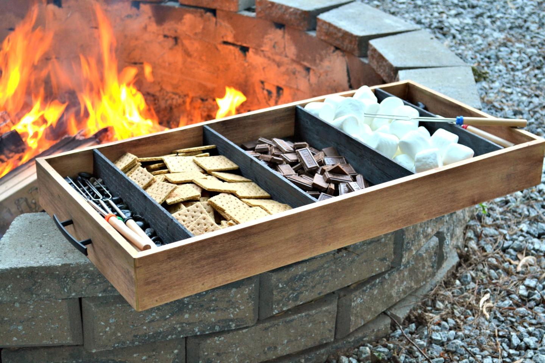 diy charred wood tray