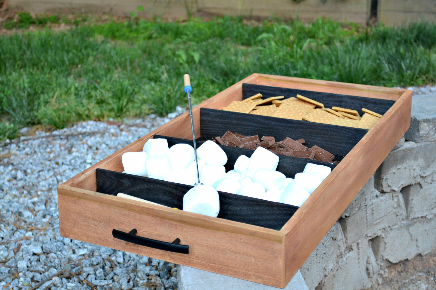 diy shou sugi ban charred wood tray for s'mores