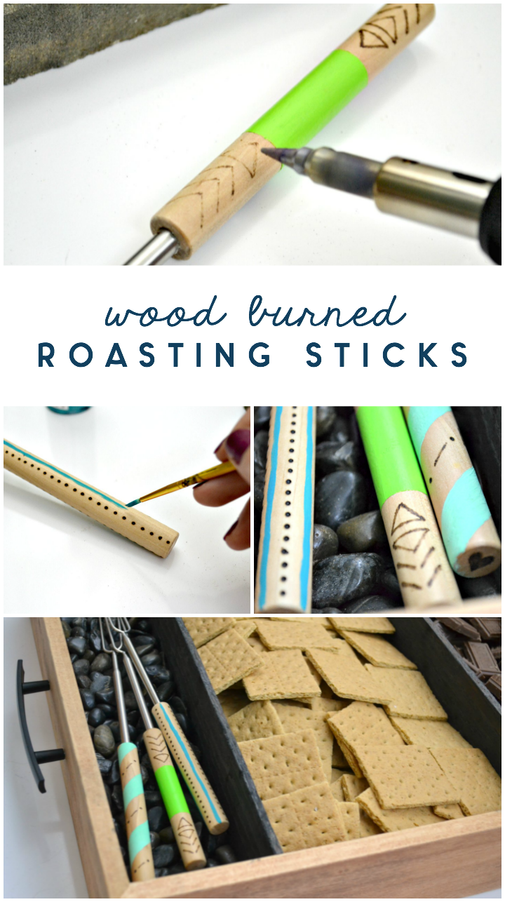 diy wood burned roasting sticks = soldering iron tutorial