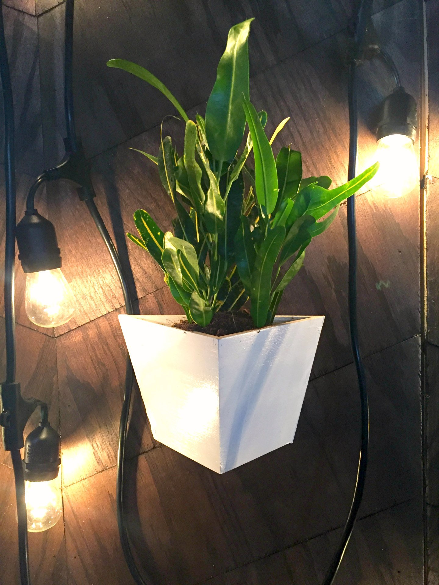 hanging planter ikea hack