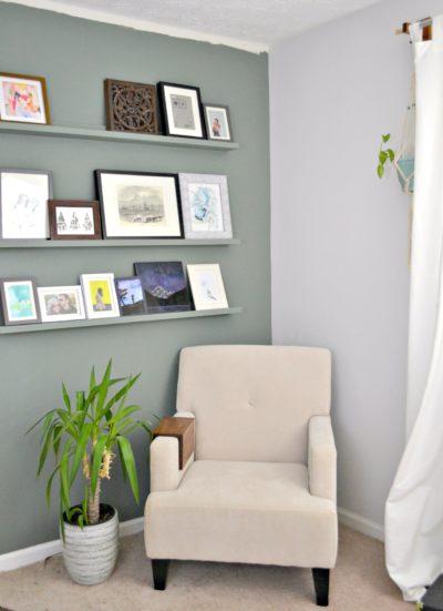 left corner of guest bedroom - progress