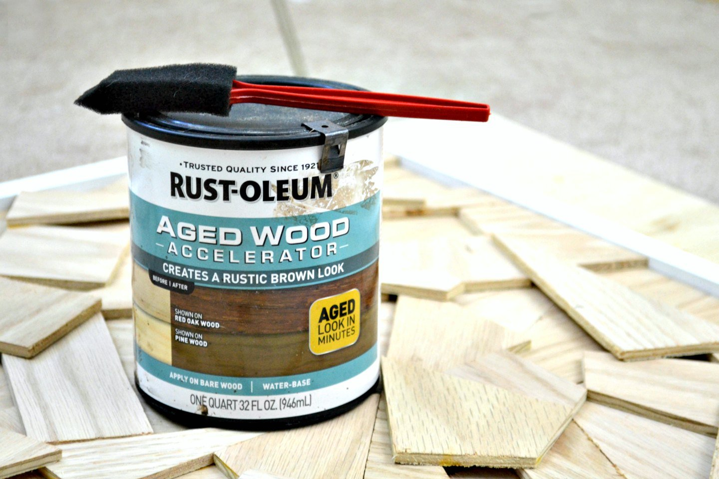 rustoleum aged wood accelerator review