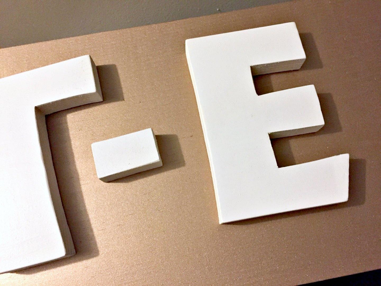 rustoleum logo letter cutout