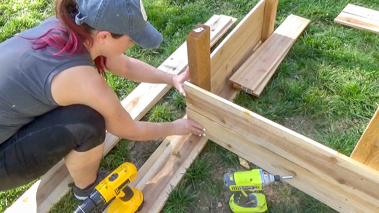 me building raised garden bed-2