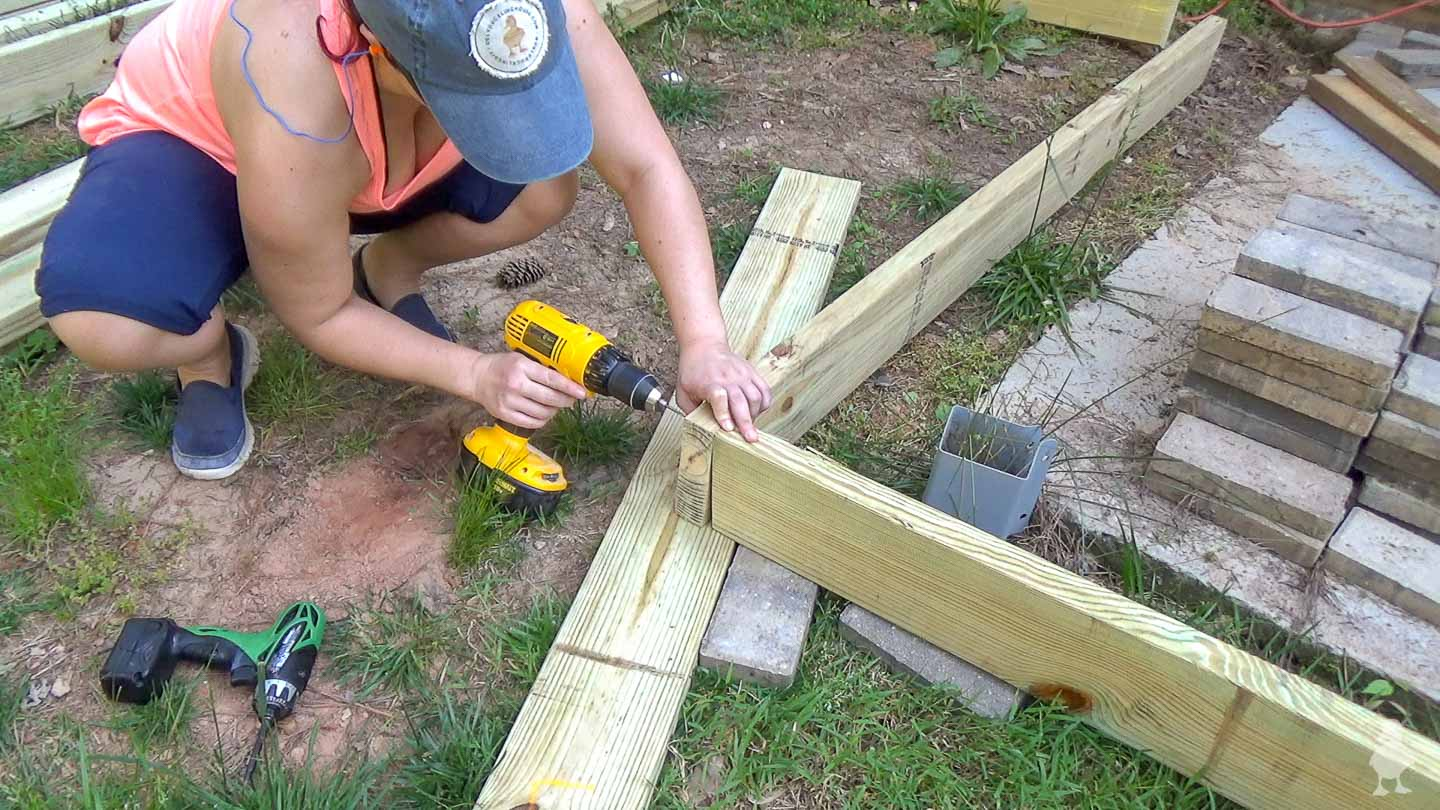 create outer deck frame