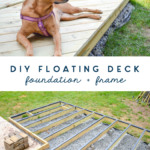 diy floating deck - foundation - frame - waterproofing tutorial