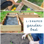 diy l shaped raised garden bed