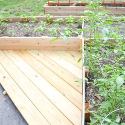 Mini Garden Deck | Scrap Deck Boards Made Useful