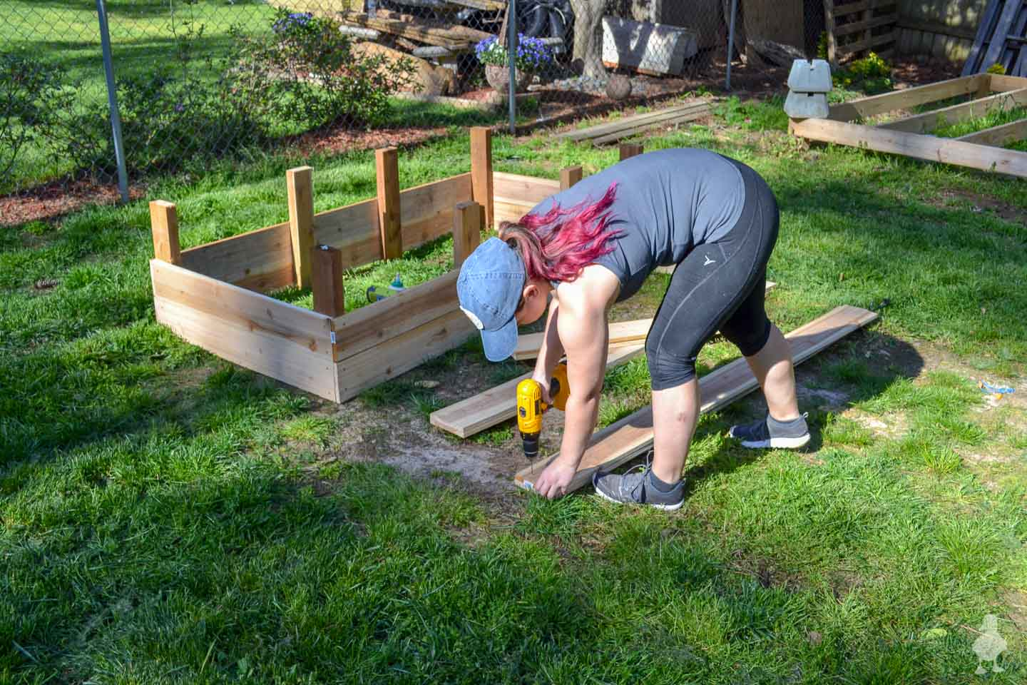 me building raised garden beds