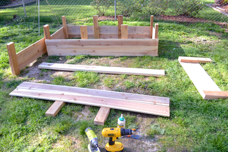raised cedar garden bed for vegetable gardening