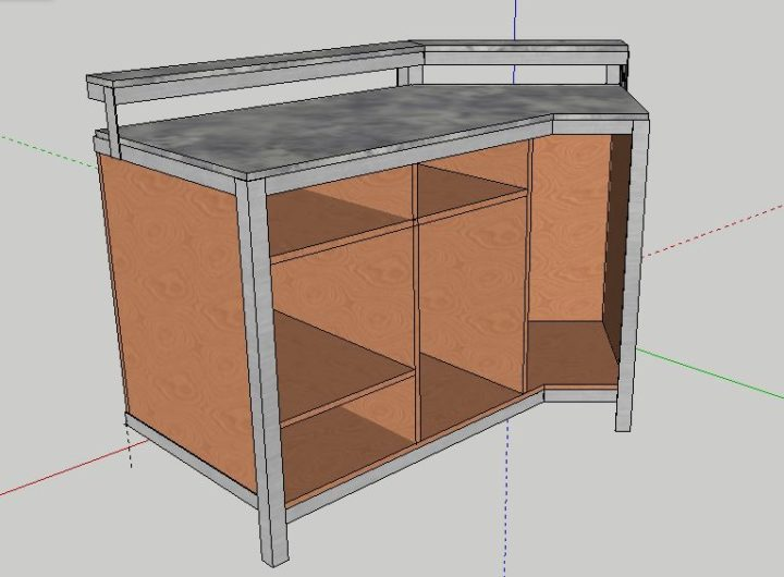 Wood and Metal Industrial Desk