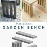free plans - diy garden bench