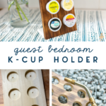 guest bedroom diy k cup holder