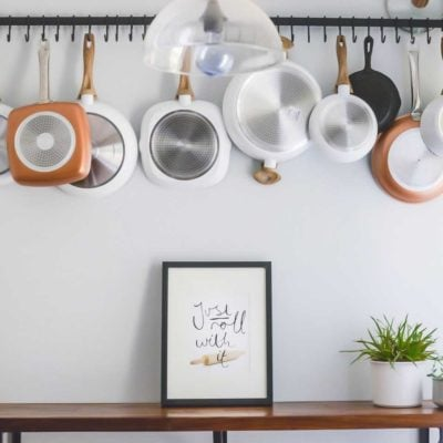 Adding Charm to the Kitchen Nook with a Wall Pot Rack