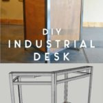 wood and metal diy industrial desk - free plans