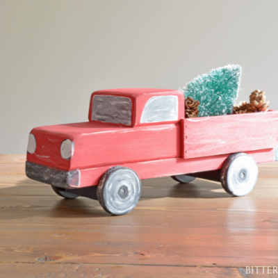 DIY Vintage Christmas Truck | Free Plans