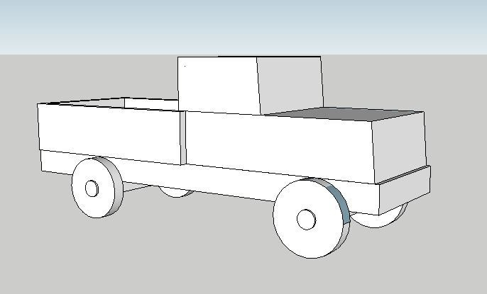 DIY Vintage Christmas Truck
