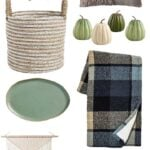fall home decor picks - blue green and ivory