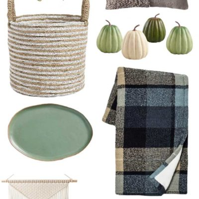Blue-Green Fall Home Decor Picks + Mini House Tour