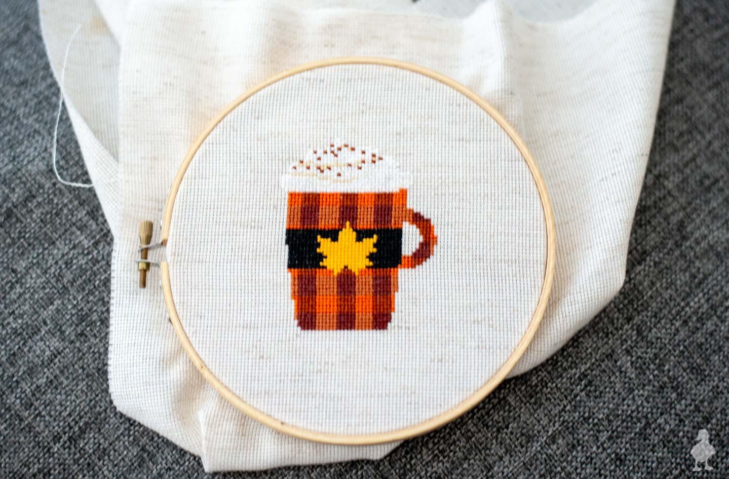 PSL fall cross stitch pattern
