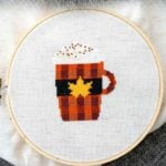 Pumpkin-Spice-Latte-cross-stitch-pattern-by-Ugly-Duckling-House
