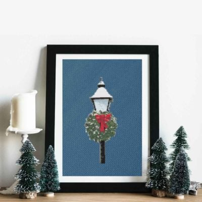 Christmas Lamppost | Free Cross Stich Pattern