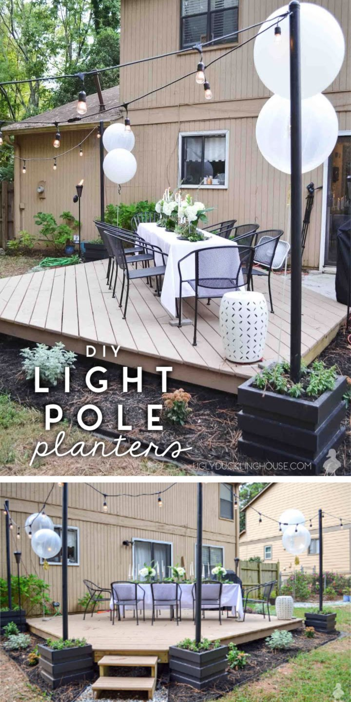 diy-outdoor-light-pole-planters---Ugly-Duckling-House