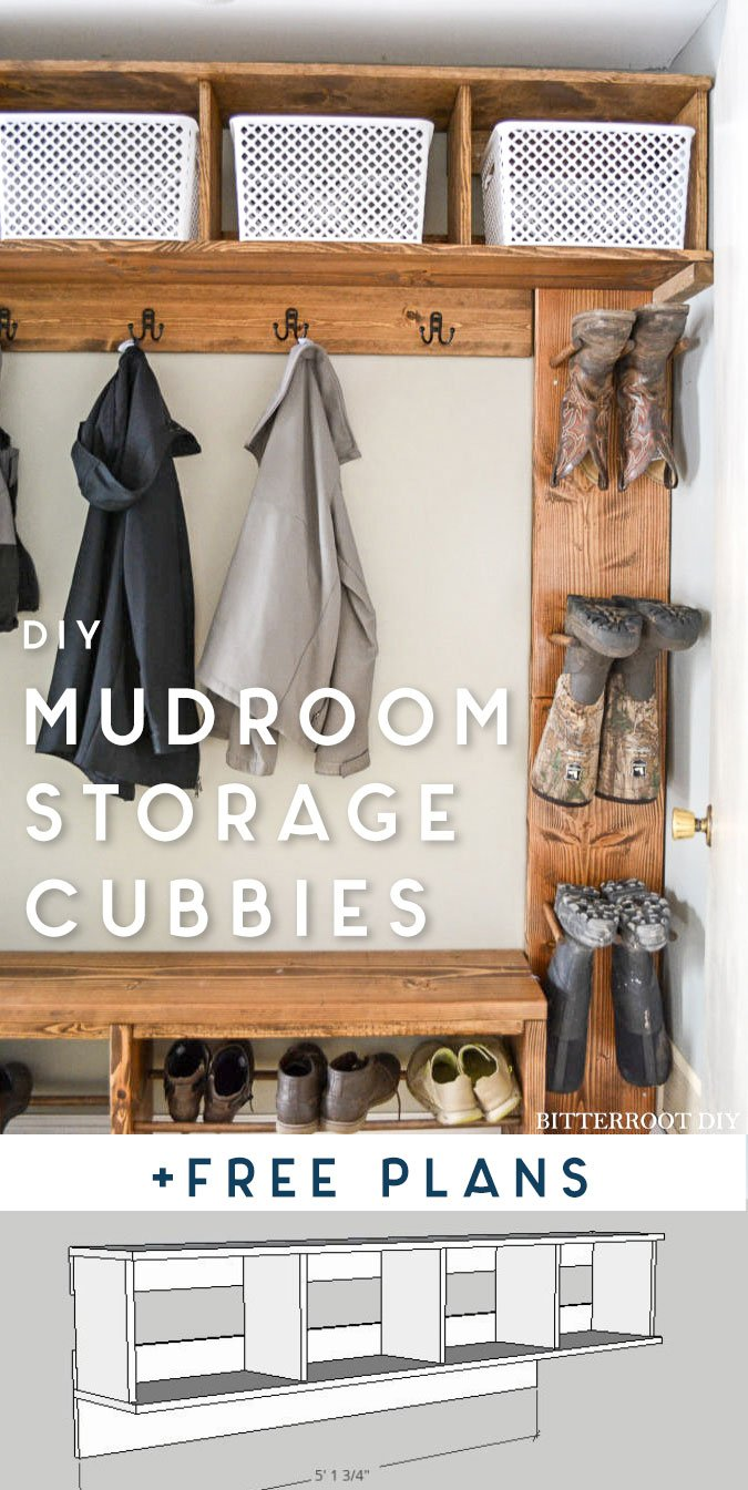 Mudroom Storage Cubbies Free Plans Ugly Duckling House