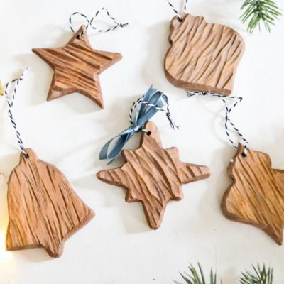 DIY rustic carved wood ornaments-10