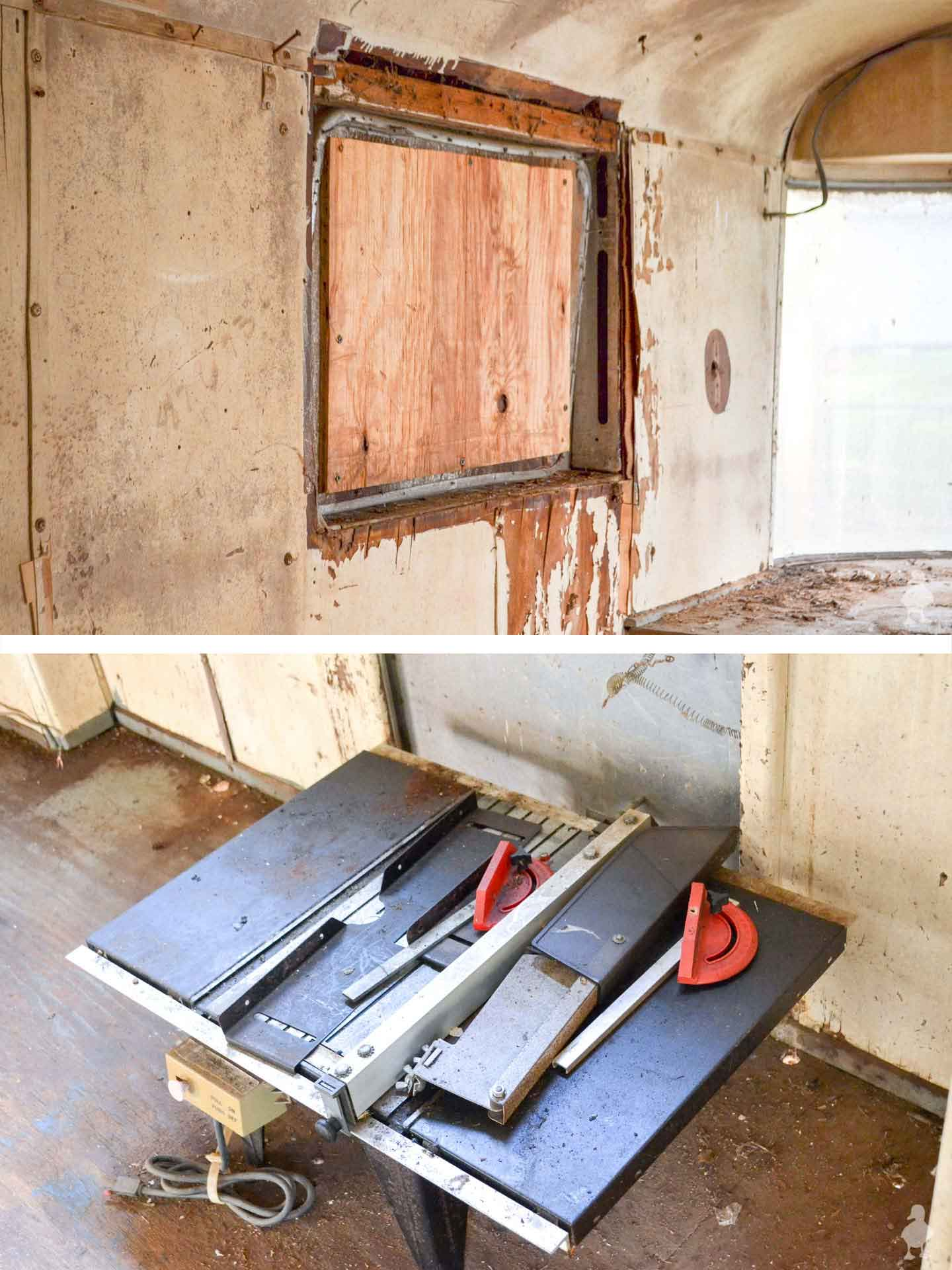 Ruby's-Revival-interior-busted-window-and-old-tools