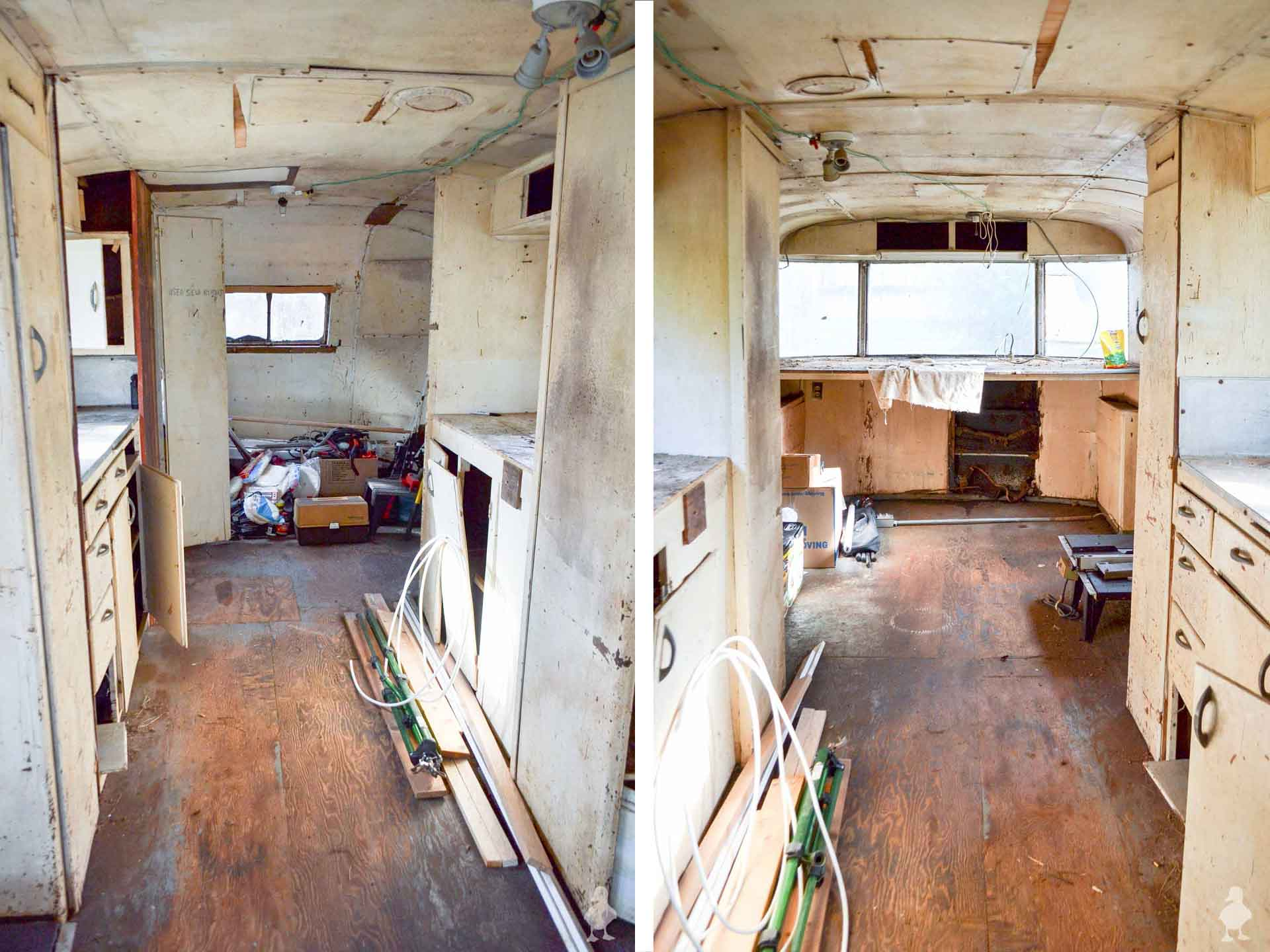 Ruby's-Revival-interior-side-by-side-view-of-both-ends-of-vintage-camper
