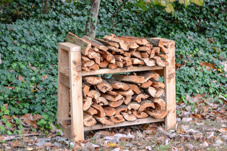 DIY Small Firewood Rack | Free Plans