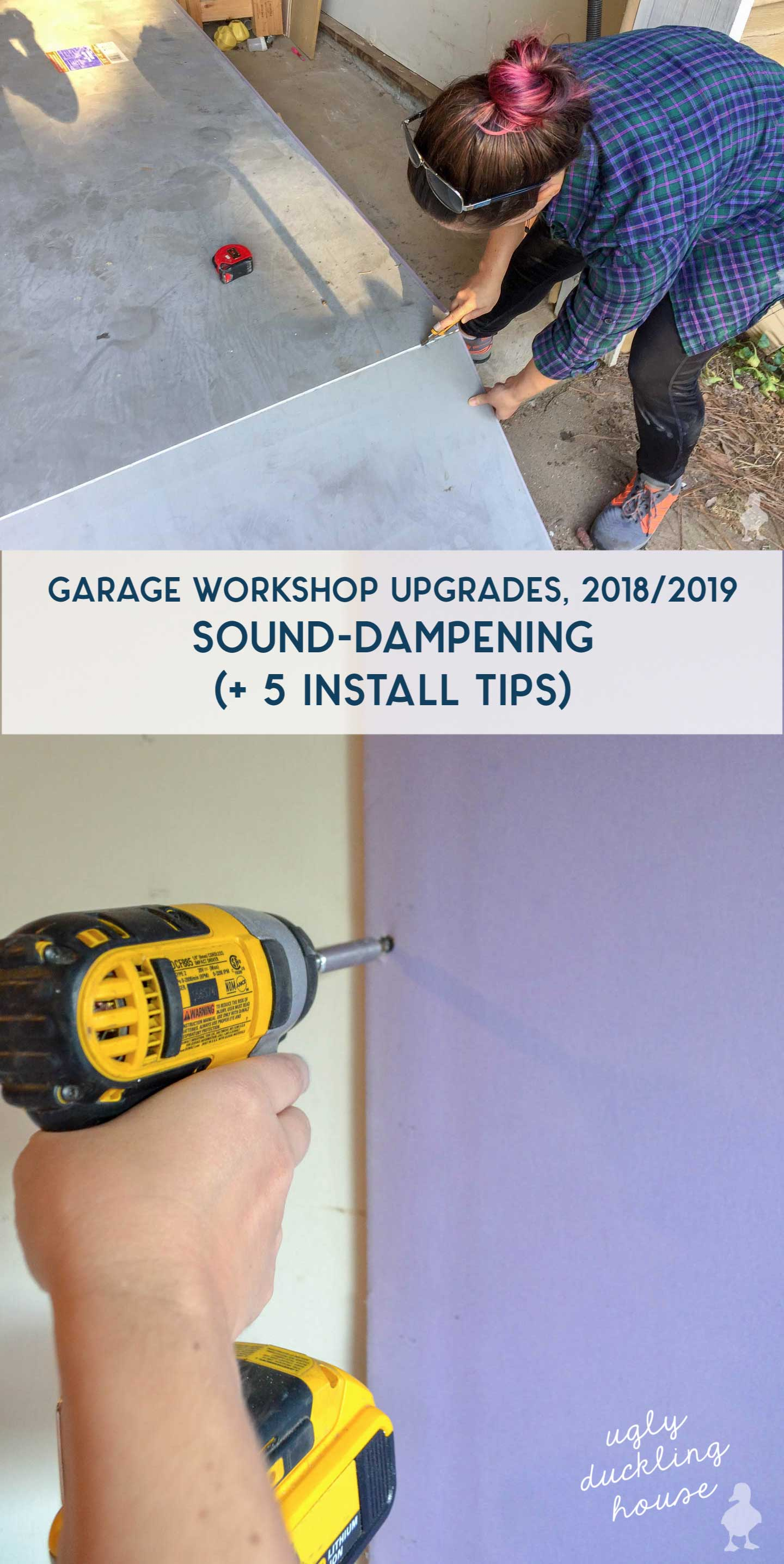 garage workshop upgrades sound dampening drywall