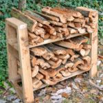 small diy fire wood rack stand